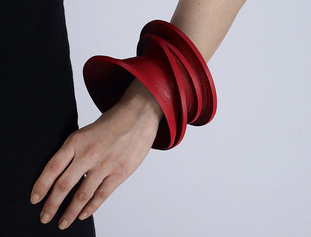 wearable art bracelet using VELCRO® Brand ONE-WRAP® ties