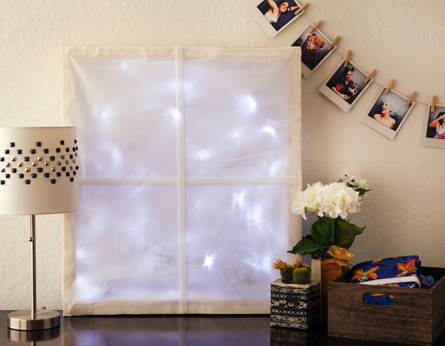 Dreaming Of A White Christmas Maybe You Ve Got Windowless Wall That Could Use Little Love We Partnered Up With Velcro Industries And The Home Depot