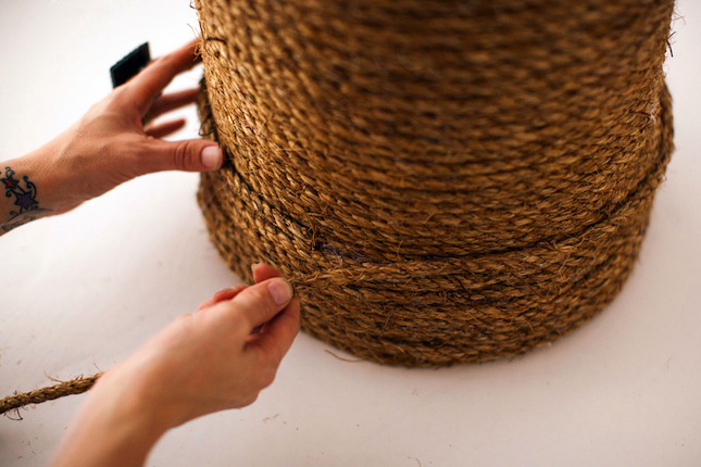 Rope Ottoman Detail DIY