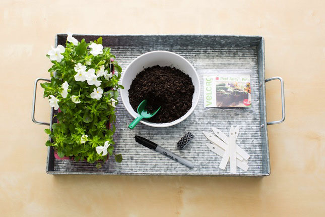 DIY Planter Instructions Materials VELCRO® Brand