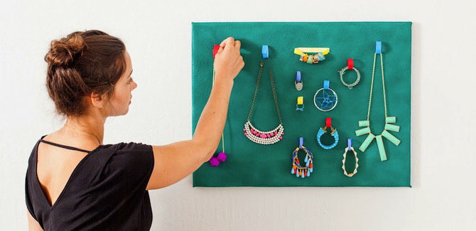 DIY Jewelry Organization with VELCRO Brand