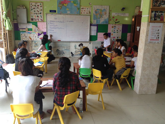 Cambodian Children's Fund Velcro Industries Classroom
