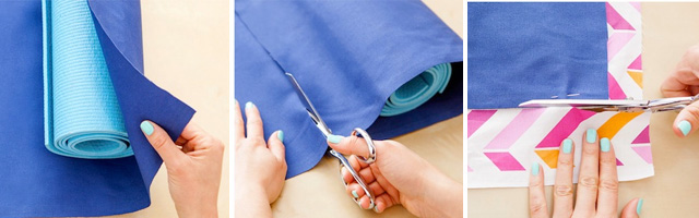 make your own custom yoga mat bag