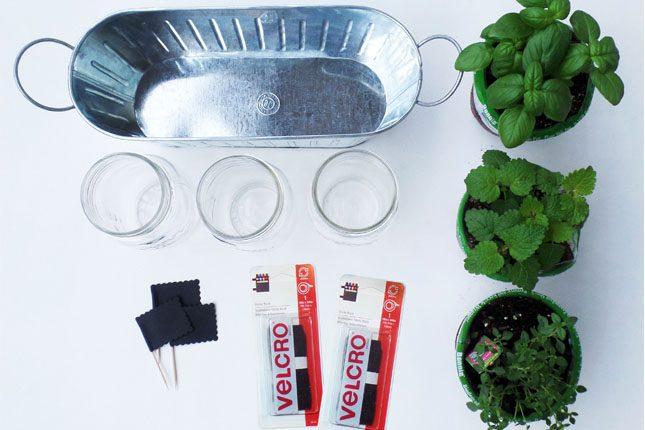 VELCRO® Brand and Sabrina Soto DIY Herb Garden