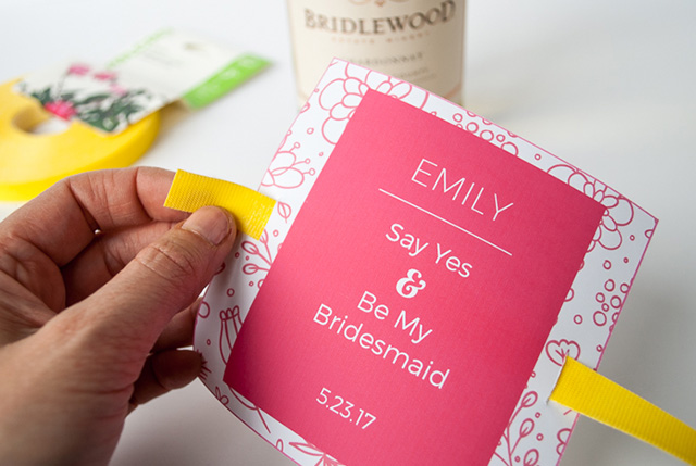 diy bridesmaid groomsman