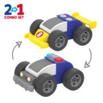 2 in 1 toys police car transform race car