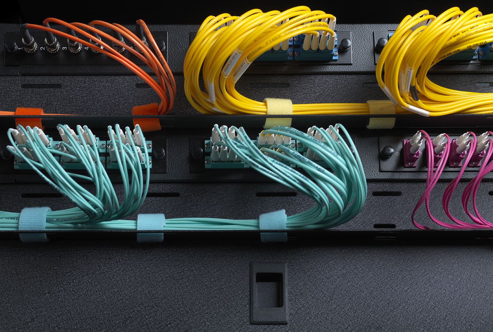 Next Level Organization Of Fiber Optics Velcro Brand One Wrap Optic Wiring Cable Rack