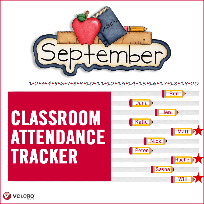 create a fun attendance tracker for your classroom velcro brand blog