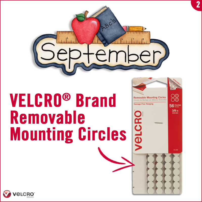 use velcro brand removable mounting circles to attach numbers or dates to the wall