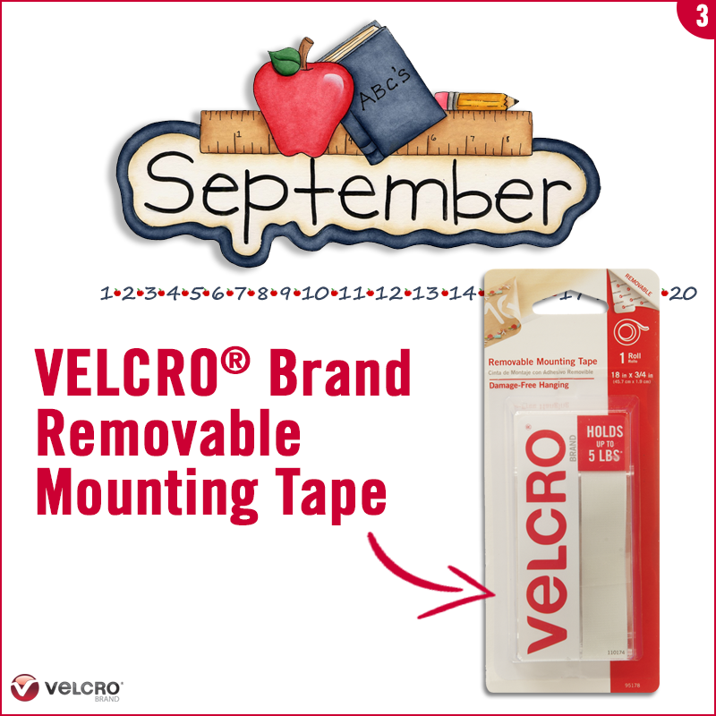use velcro brand removable mounting tape to start to add the student lanes