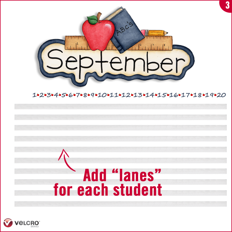add the lanes for each student under the month and dates