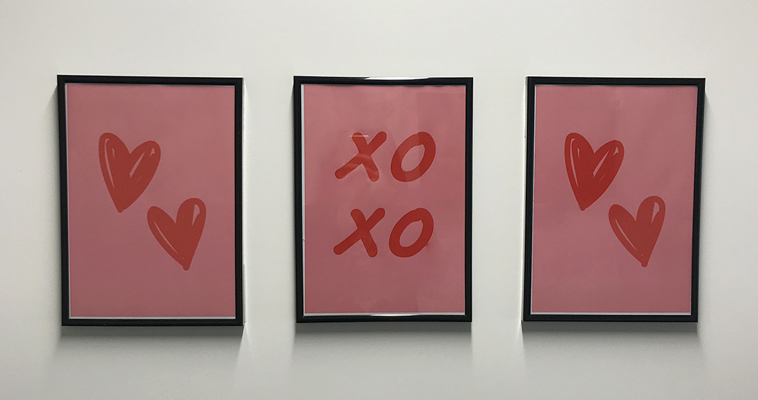 Valentine's Day Gallery Wall
