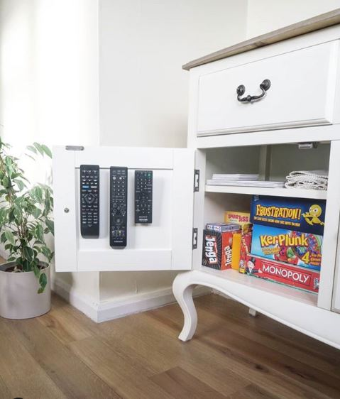 VELCRO® Brand Sticky Back fasteners to stick remotes