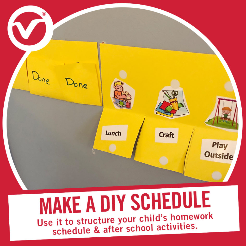 Back to School Tip - Make a DIY schedule