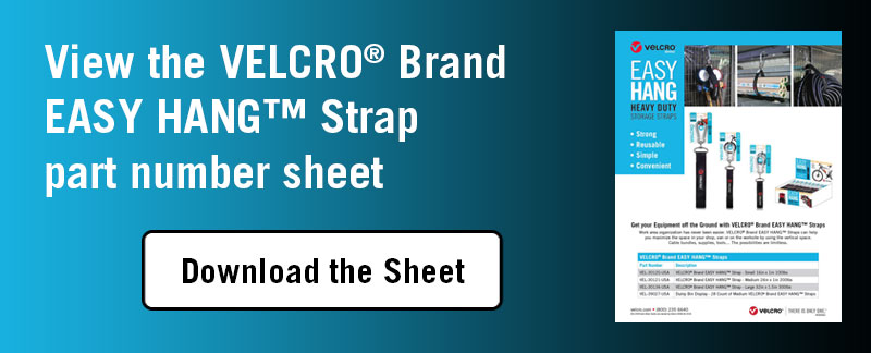 Organize Industrial Workspaces with VELCRO® Brand EASY HANG™ Straps