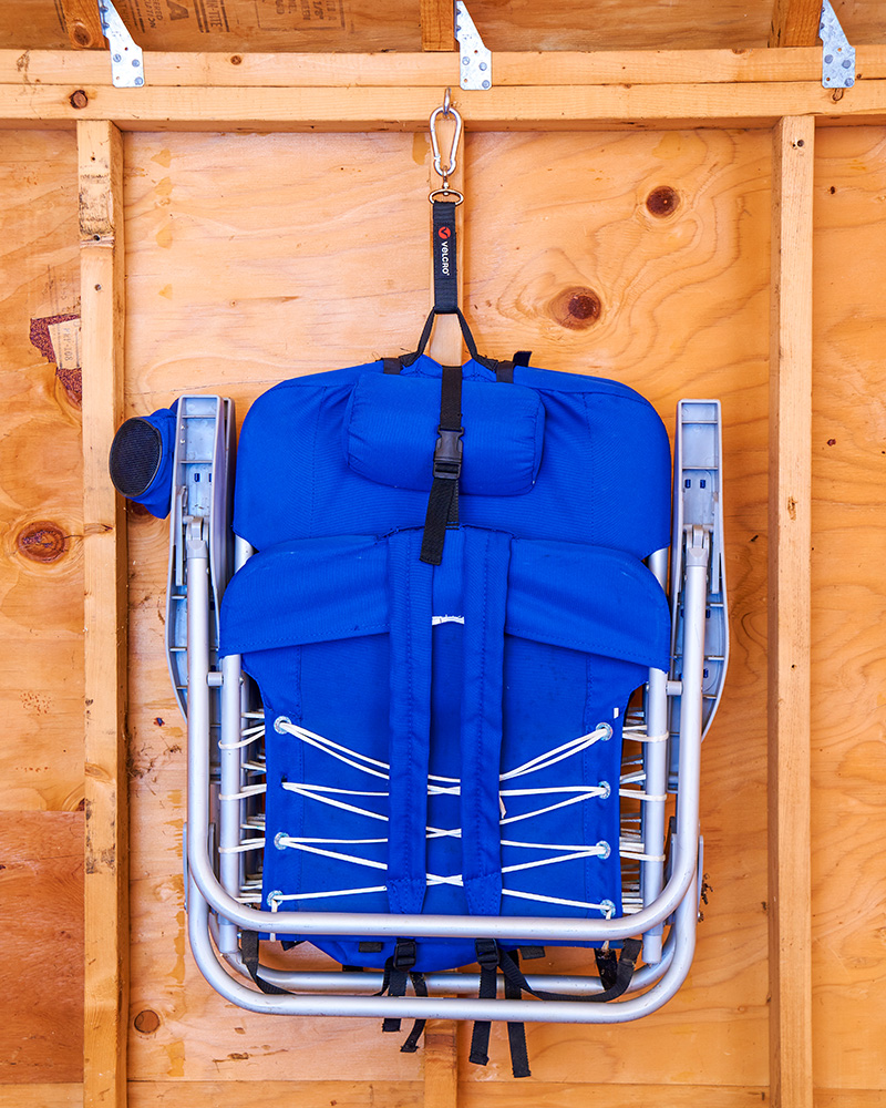 folding chair organize your shed