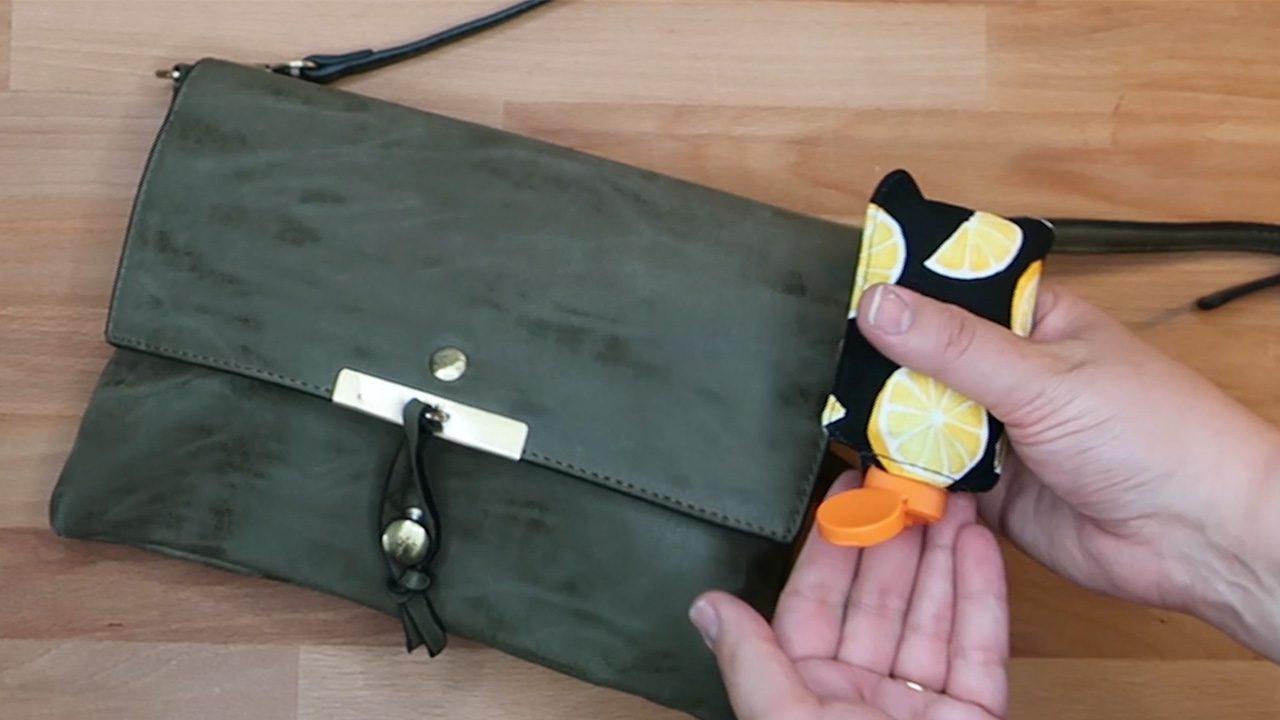 DIY Hand Sanitizer Holder for Bags and Backpacks