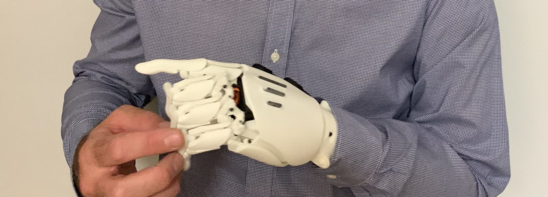 bionic arms close-up