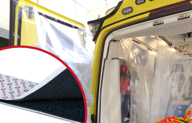 Ambulance curtain mounting