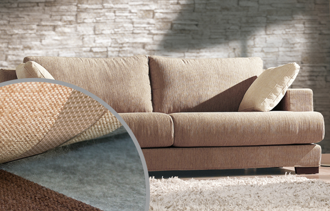 residential sofa with furniture fasteners