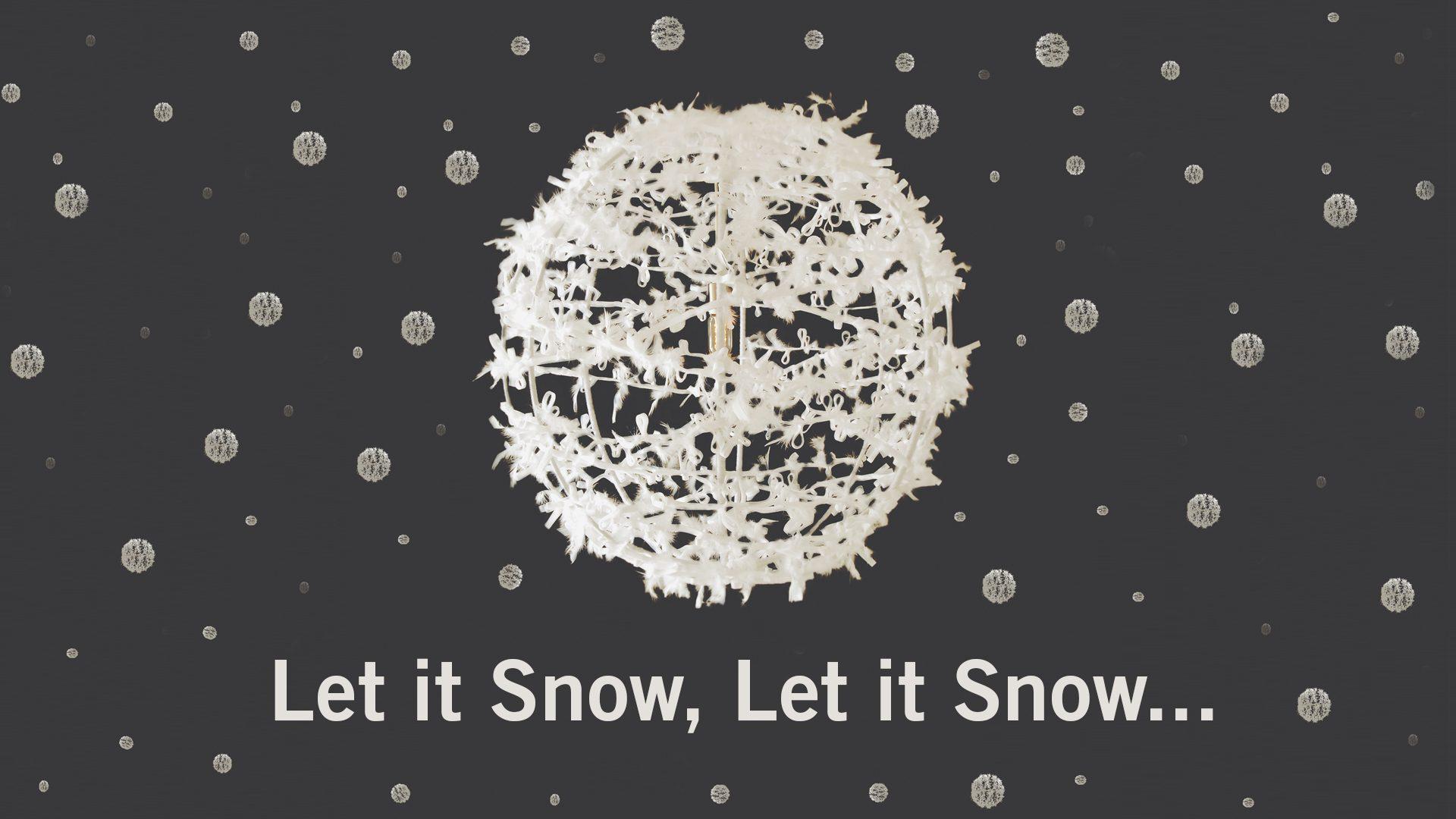 Let it Snow Lighting Sculpture