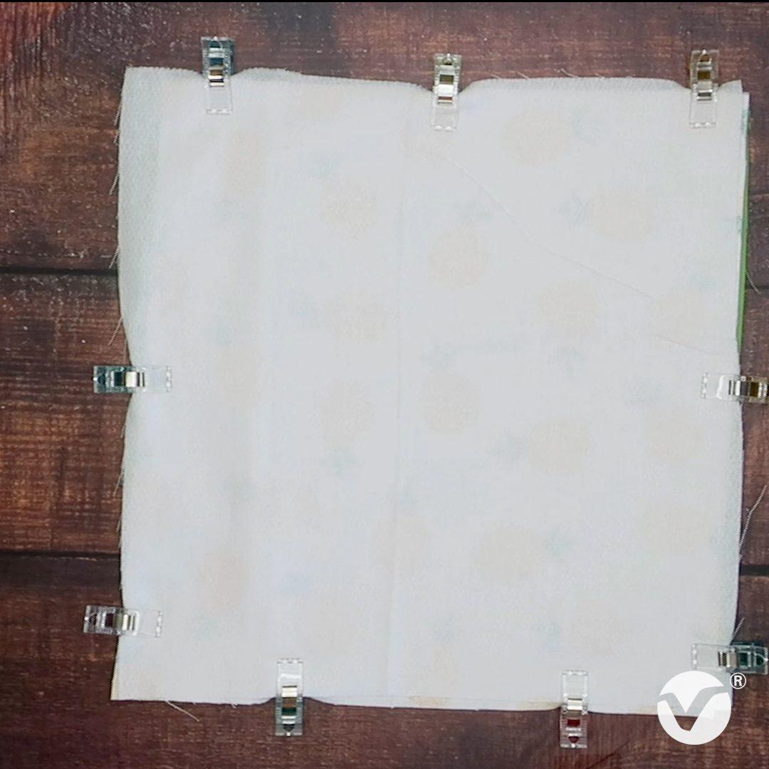clip unpaper towels fabric together