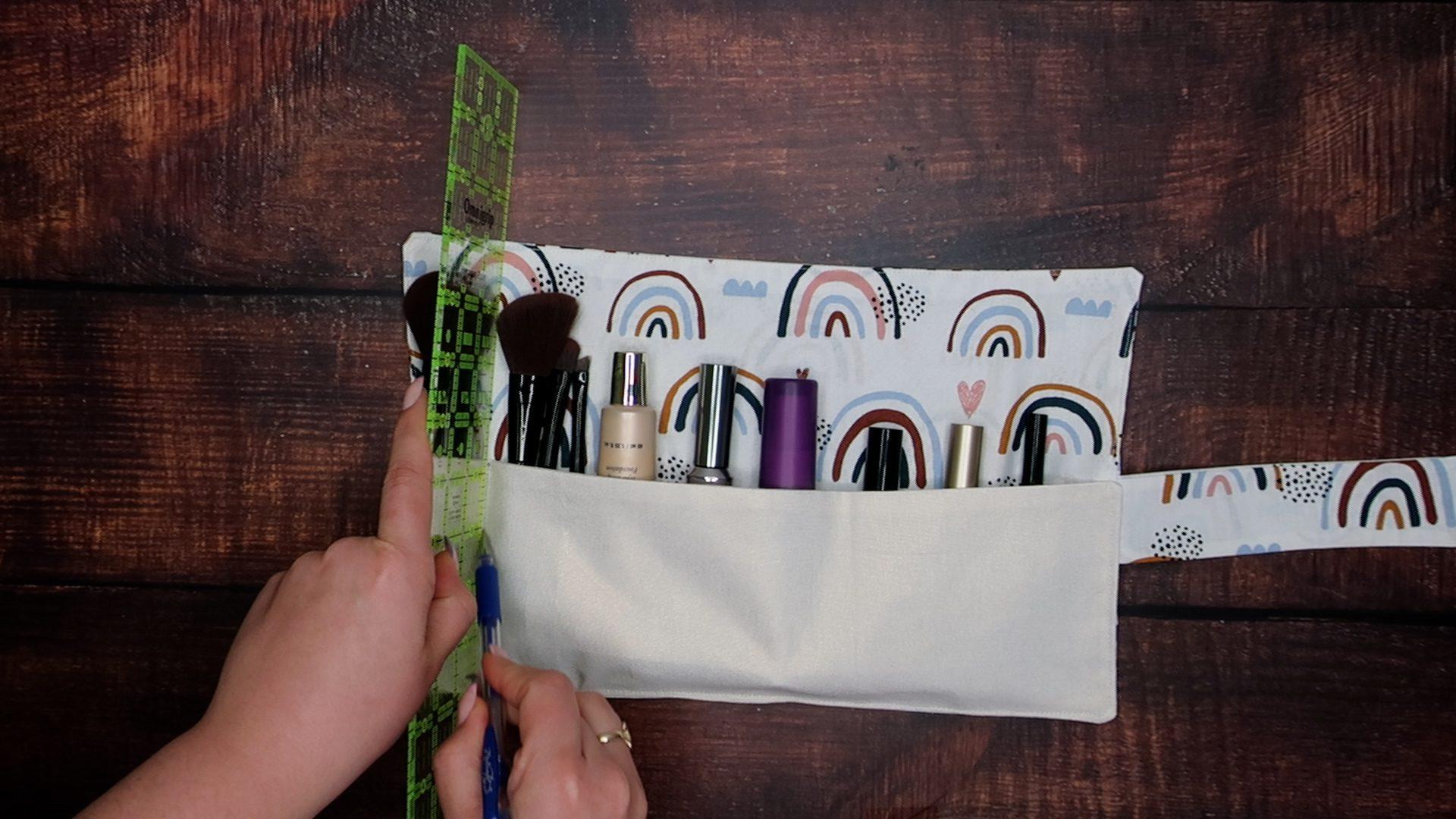 DIY Makeup Roll Step 7