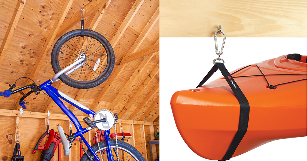 How to organize your garage for summer - bikes and kayaks