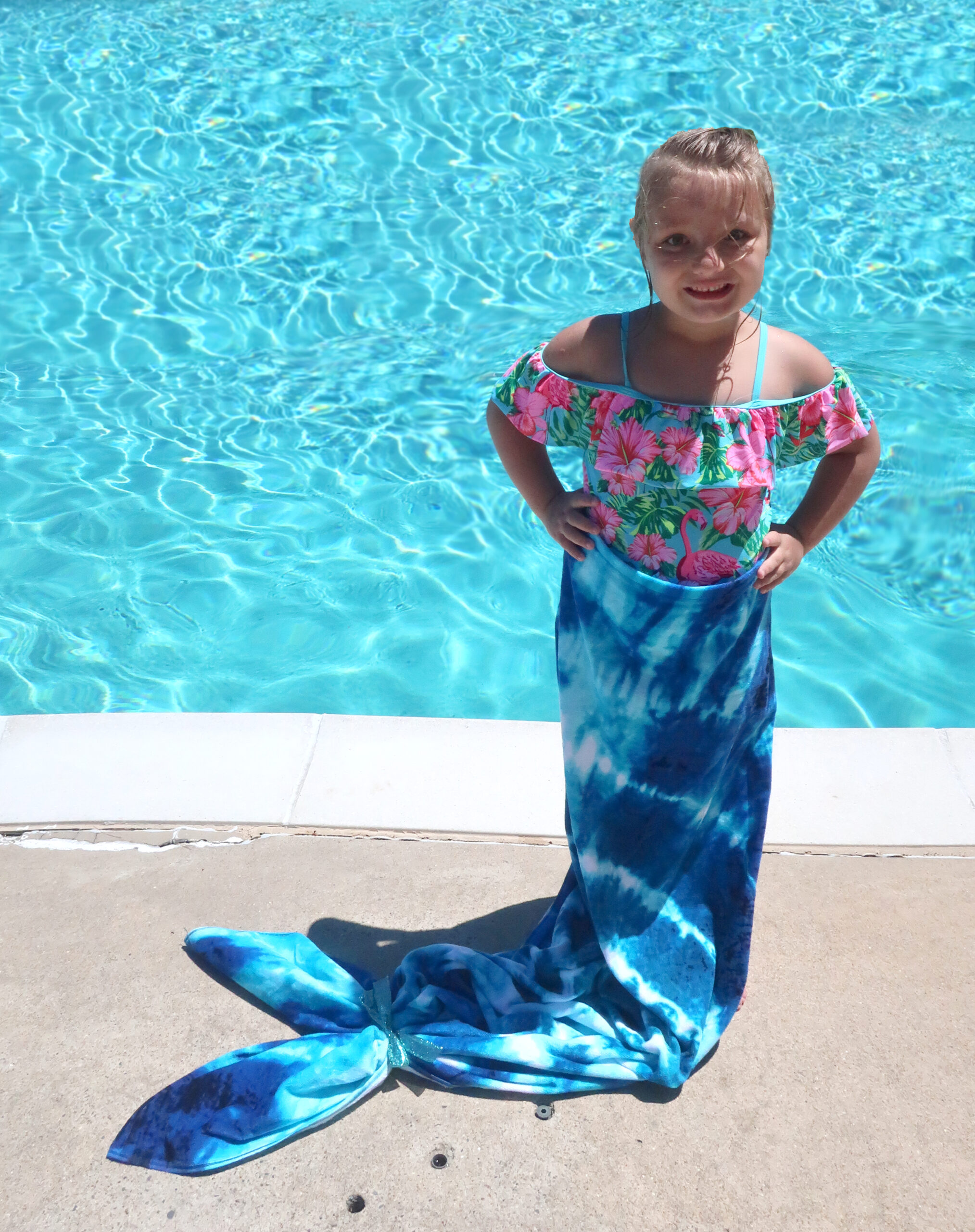 How to make a mermaid towel final result