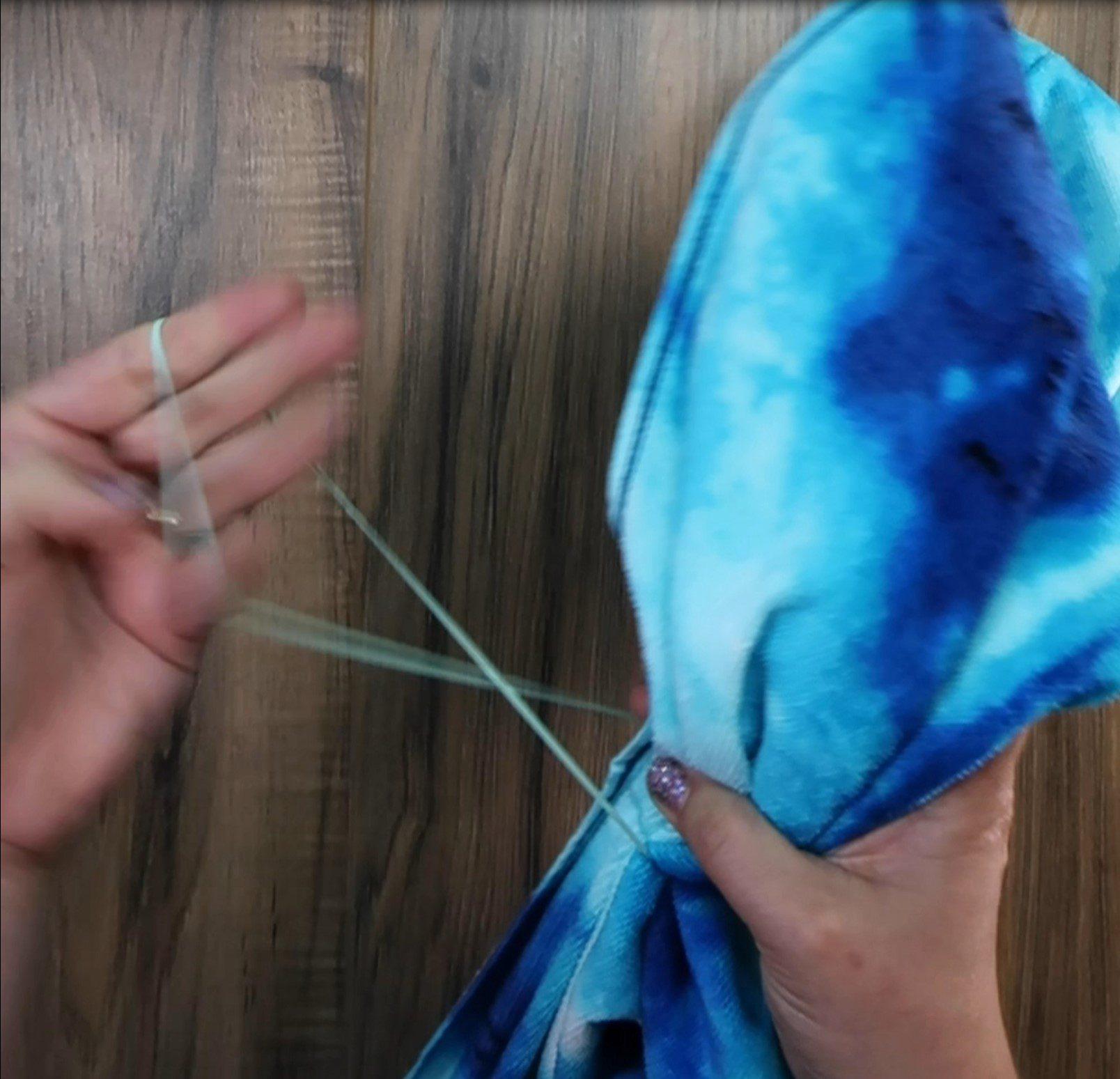 How to make a mermaid towel step 1b