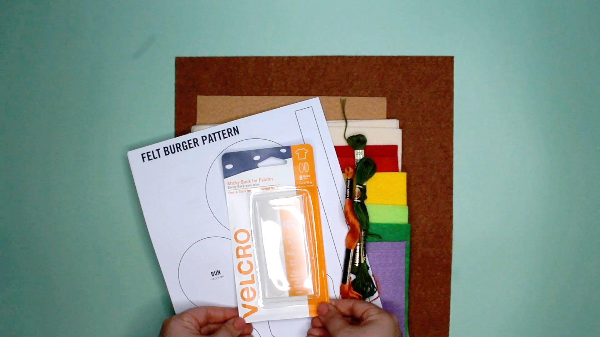 DIY Felt Play Food: materials