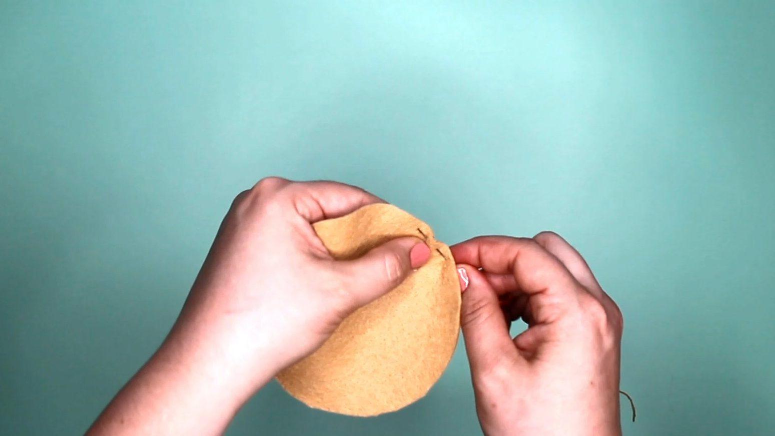 DIY Felt Play Food: step 2a