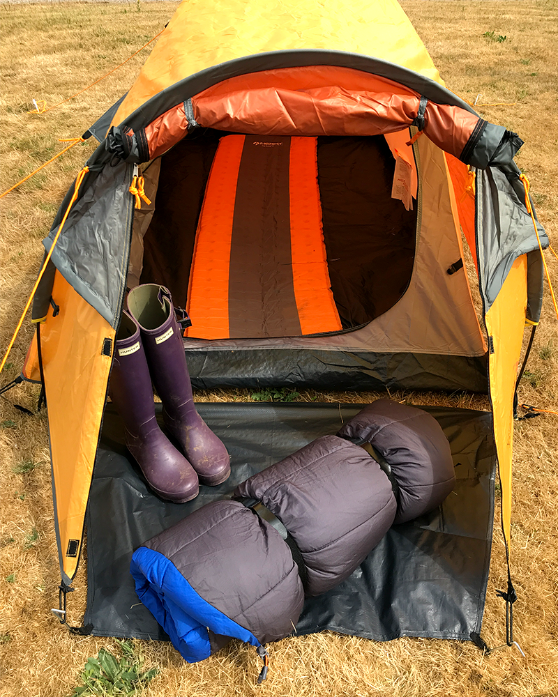 Camping Tip - Roll Up Your Sleeping Bag with a VELCRO® Brand Strap 2