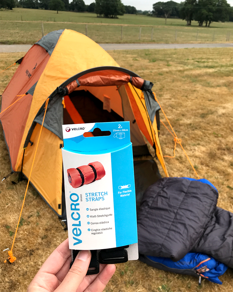 Camping Tip - Roll Up Your Sleeping Bag with a VELCRO® Brand Strap