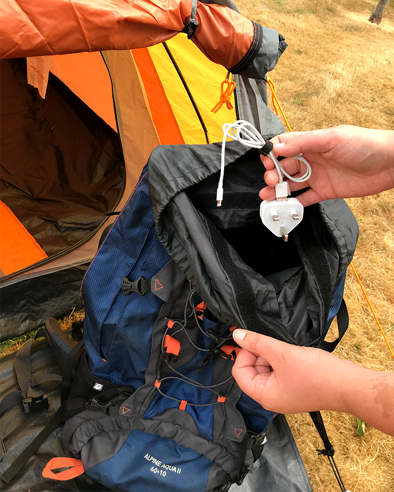 Camping Tip - Wrap Up Cables with VELCRO® Brand ONE-WRAP® Ties 2