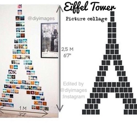 Eiffel Tower Gallery Wall