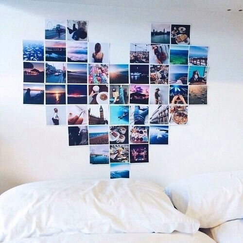 Heart-Shaped Instagram Gallery Wall