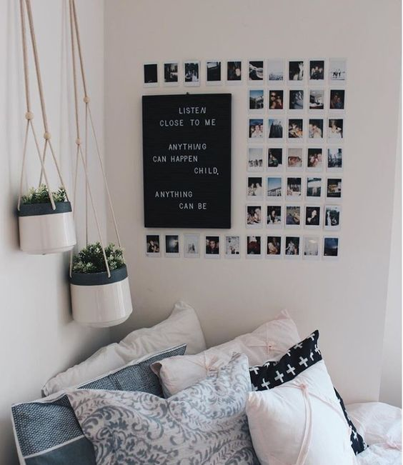 Instagram Gallery Wall with Inspirational Quote