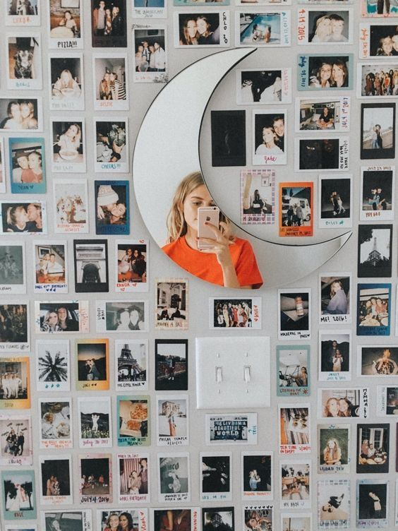Instagram Gallery Wall with Mirror