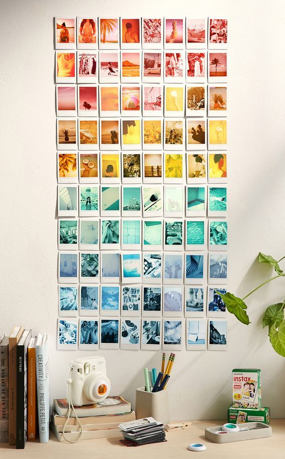 Rainbow Instagram Gallery Wall