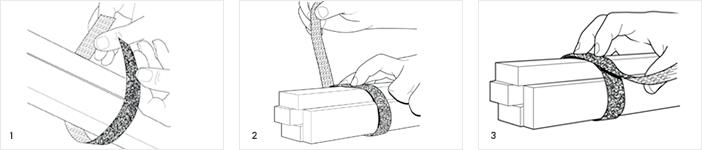 Klett-Kabelbinder, Wiederverwendbar der Marke ONE-WRAP®