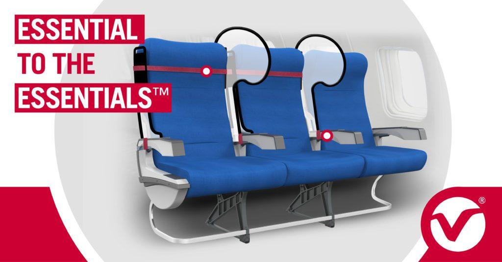 Mamparas de protección para asientos de aerolíneas esenciales para lo esencial