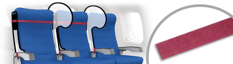 Mamparas protectoras para asientos de avión