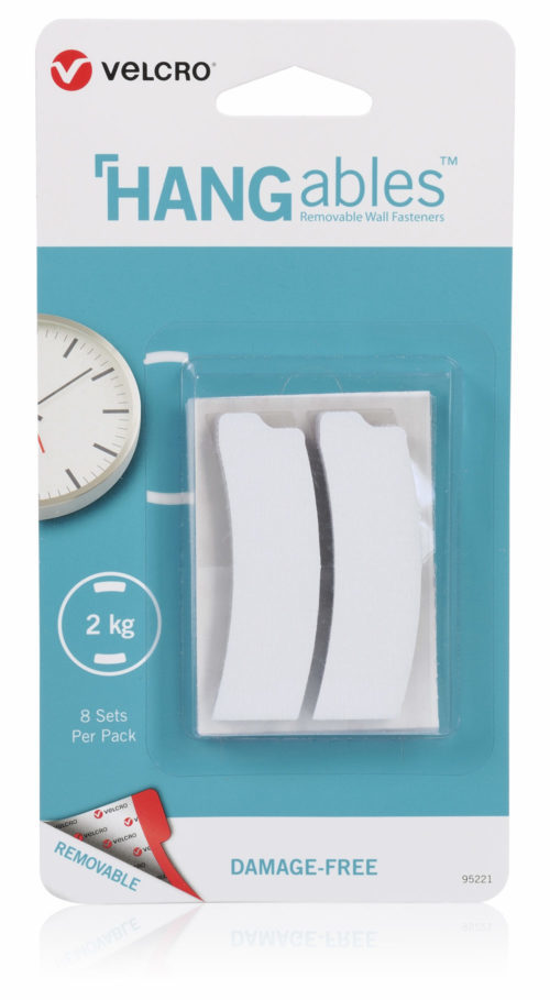 SET OF 8 CURVES VELCRO® BRAND HANGABLES™ REMOVABLE WALL FASTENERS