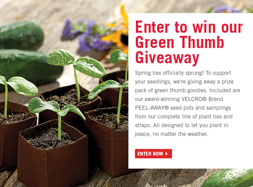 VELCRO® Brand Green Thumb Giveaway Enter