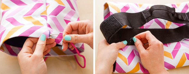 make a custom yoga mat bag