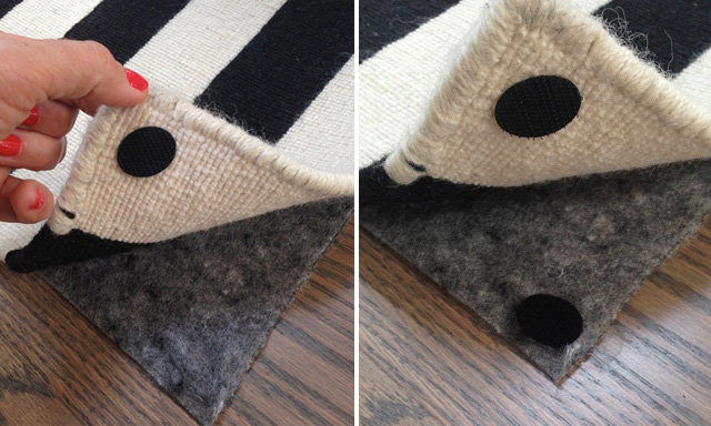 fix rug corner stick carpet sabrina soto