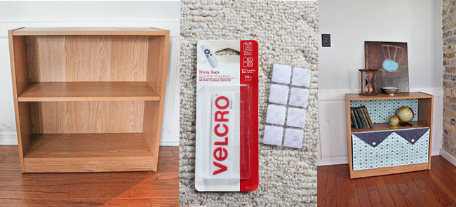 VELCRO Brand DIY Bookcase Decoration