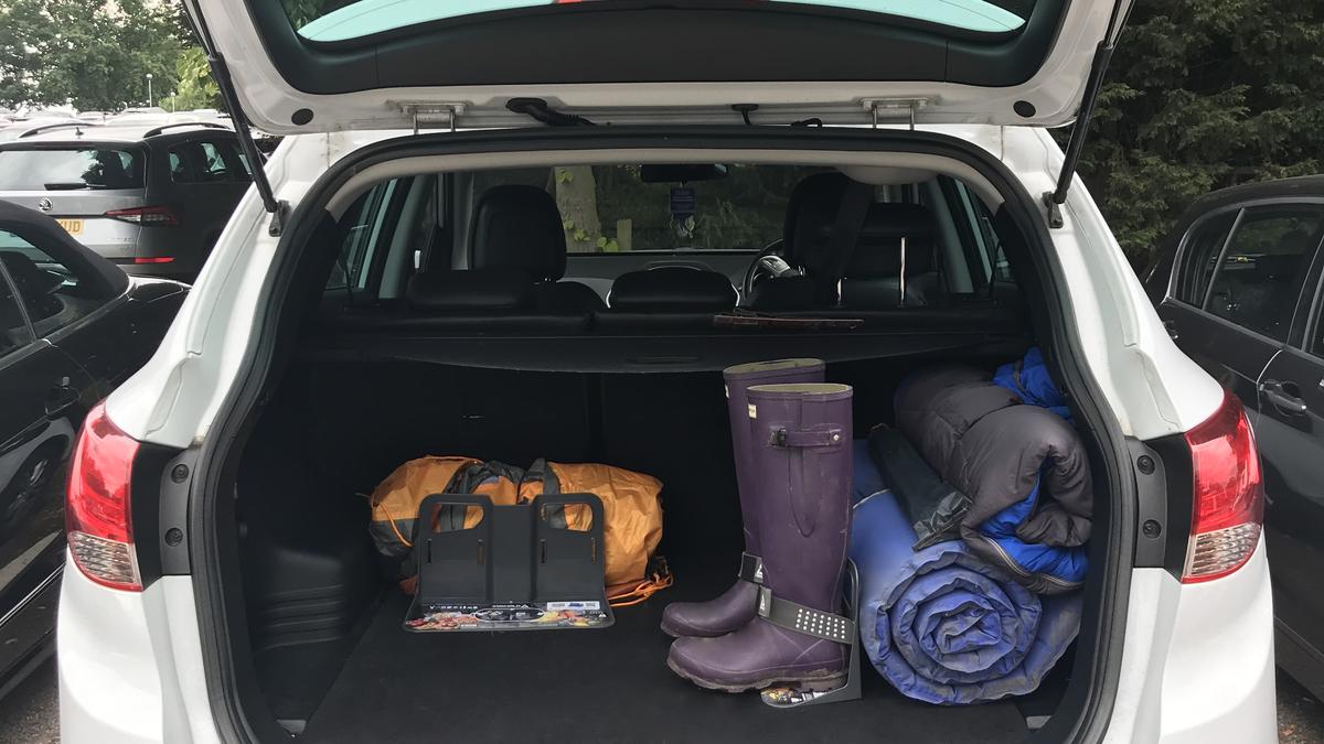 suv trunk organization with stayhold cargo organizers