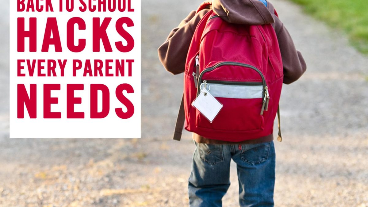 kid with backpack going to school